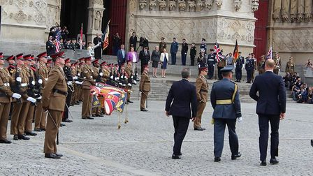 Prince William attended the parade on the 100th anniversary of the Battle of Amiens Picture: THE ROY