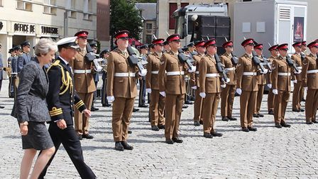 Prime Minister Theresa May also made an appearance at the event Picture: THE ROYAL ANGLIAN REGIMENT
