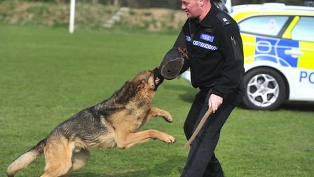 Aman training with PC Tony Russell. Picture: LUCY TAYLOR