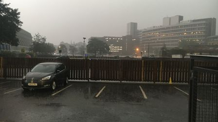 Thunder and lightning has hit Ipswich Picture: AMY GIBBONS