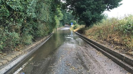 Flooding in Great Bealings, between Woodbridge and Ipswich Picture: ARCHANT