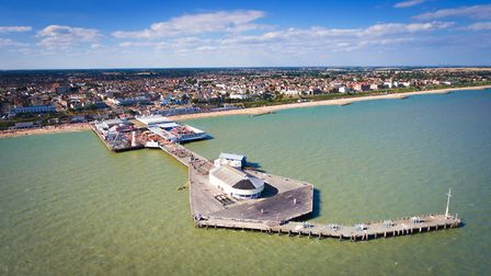 The boy is missing near Clacton pier Picture: TENDRING COUNCIL