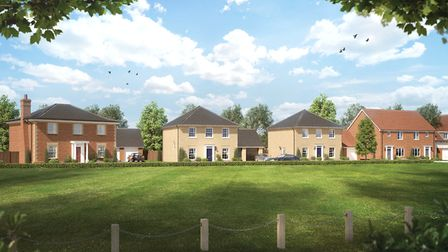 The homes are included in the Priors' Grange development Picture: HOPKINS HOMES