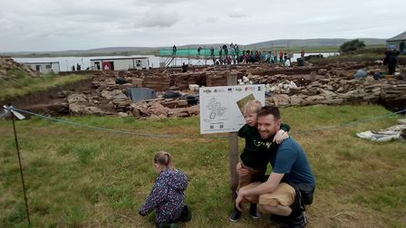 Jonathan Dodd on site at the Ness of Brodgan, Orkney Islands. Originally from Marks Tey, he is now w