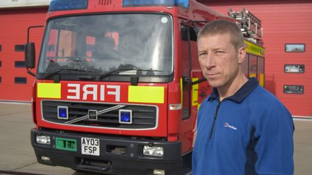 Phil Johnston, of the Fire Brigades Union (FBU) Suffolk branch. Picture: ANDREW PAPWORTH