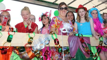Felixstowe Carnival on Saturday afternoon, floats and entertainment 21/6/2016 Level 2 Youth