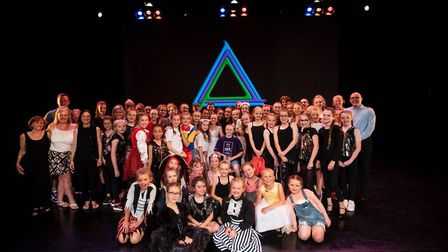 Louis with his fellow cast members after the headshave at DanceEast Picture: EMMA KINDRED