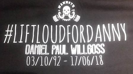 Image of a distinctive T-shirt worn by Terry Willgoss when he went missing Picture: SUPPLIED BY SUF