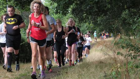 Runners taking part in the 307th staging of the Ipswich parkrun. Picture: IPSWICH PARKRUN FACEBOOK P