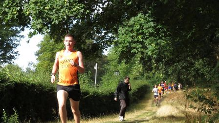 Paul Wain, on his way to first place at the Ipswich parkrun, which attracted a field of 261. Picture