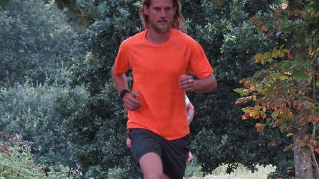 Gary Taylor, of Felixstowe Road Runners, finishing second at the Ipswich parkrun. Picture: IPSWICH