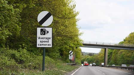 Average speed cameras on the A12 between East Bergholt and Stratford St Mary Picture: GREGG BROWN