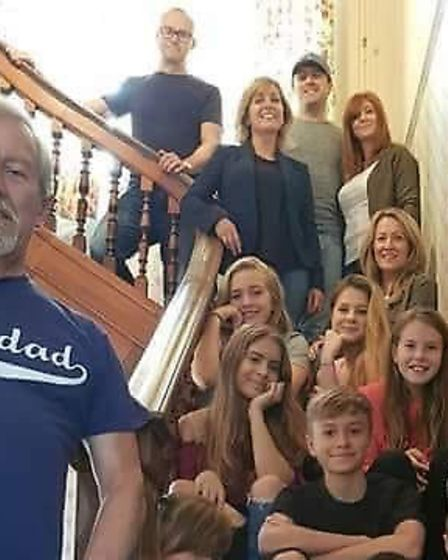 Clive Wyard and his extended family Picture: SUPPLIED BY FAMILY
