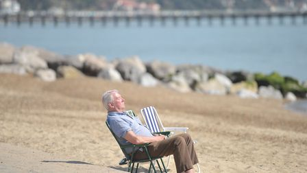 A man makes the most of the sunny weather Picture: SARAH LUCY BROWN