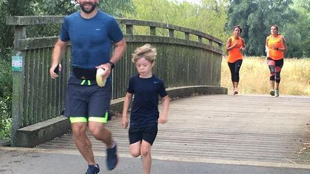 Like all parkruns, the Pocket parkrun is a family occasion. Picture: CARL MARSTONx
