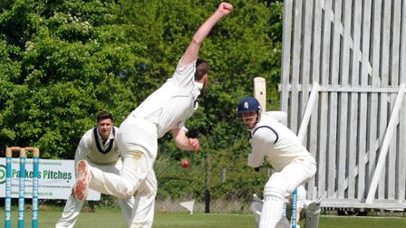 Mildenhall batsman, Ben Shepperson, who top-scored with 84 in a five-wicket win at Norwich. Picture: