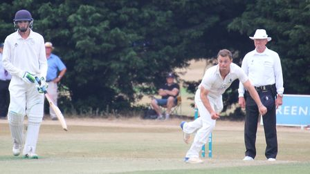 Tom Rash, who dismissed Syed Kazmi this morning to pave the way for Suffolk's big win over Hertfords