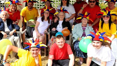 The Glastonbury Court team at the Suffolk sports day at Mills Meadow, Framlingham Picture: LUCY TAYL