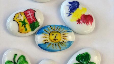 A selection of the 'friendship rocks' painted at the event Picture: ANGLIA CARE