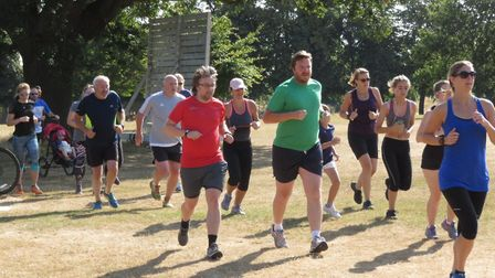Action from Ipswich's parkun at Chantry Park. Picture: IPSWICH PARKRUN FACEBOOK PAGE