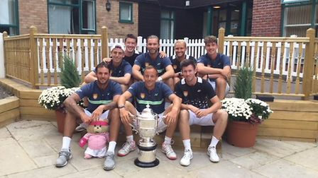 The triumphant Suffolk tennis team who were crowned national champions in Eastbourne. Picture: SHEEL