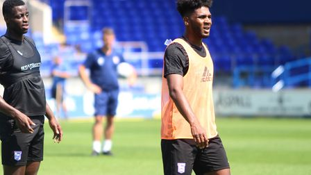 New signing Ellis Harrison during the Ipswich Town Open Day Picture: ROSS HALLS