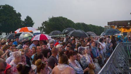 Rain couldn't spoil the party for fans watching Plan B at Newmarket Nights. Picture: ON TRACK MEDIA