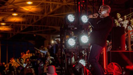 Plan B performing at Newmarket Nights. Picture: ON TRACK MEDIA