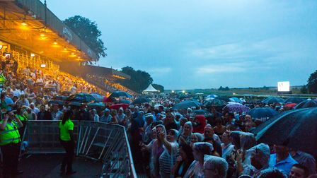 Crowds at Plan B's concert at Newmarket Nights. Picture: ON TRACK MEDIA