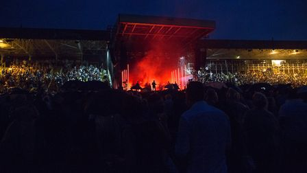 Plan B on stage at Newmarket Nights. Picture: ON TRACK MEDIA