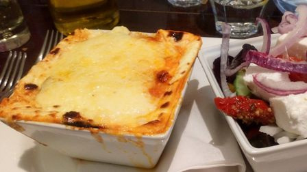 Moussaka with Greek salad Picture: Archant