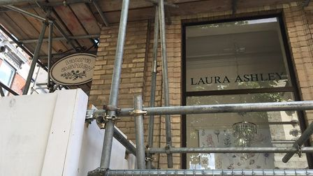 Scaffolding currently surrounds the building on the Cornhill Picture: ARCHANT