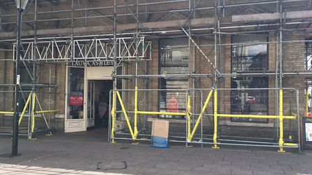 Signs have been put up inside the store Picture: ARCHANT