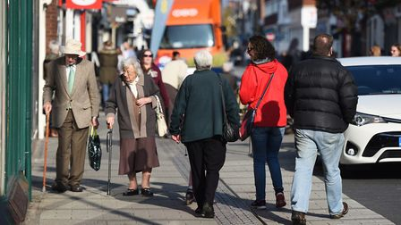 Felixstowe town centre looking busy and vibrant. Picture: GREGG BROWN