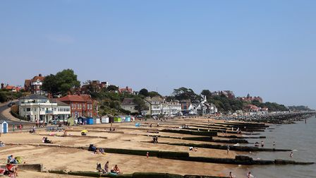 Beach huts, people eating out, crabbing at Felixstowe Ferry Picture: MICK WEBB
