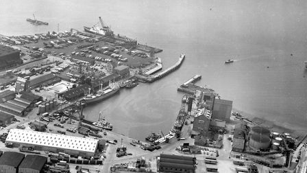 July 1967. Felixstowe Dock with the original basin in the centre. Picture: JOHN KERR