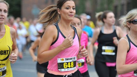 Hundreds of runners took to the streets of Ipswich for the Twilight Races 10K Picture: SARAH LUCY B