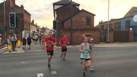 Hundreds took part in the big race today Picture: ADAM HOWLETT