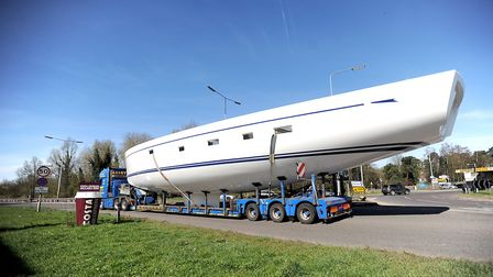The large boat will be transported to Fox's Marina in Wherstead, near Ipswich Picture: GREGG BROWN