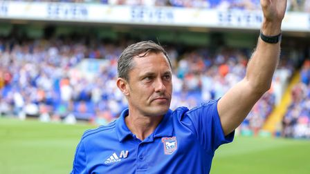 Town manager Paul Hurst ahead of the game. Picture: STEVE WALLER WWW.STEPHENWALLER.COM