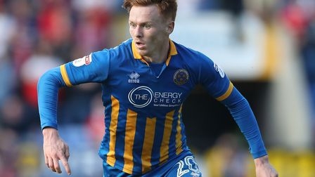 Neither Nolan or Nsiala played for Shrewsbury today. Picture: PA