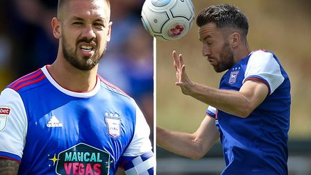 Luke Chambers and Cole Skuse started the game against Blackburn. Picture: STEVE WALLER/PAGEPIX