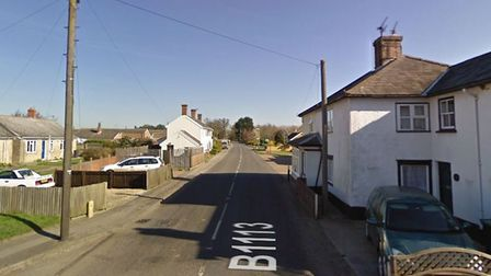 The incident happened on the B1113 at Old Newton, near Stowmarket Picture: GOOGLE MAPS