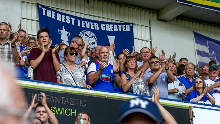 Supporters at the end of the Town v Blackburn clash. Picture: STEVE WALLER