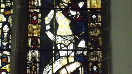 The stained glass window featuring Sir William de Berdewell Picture: ARCHANT