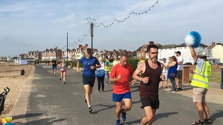 Action from the 17th staging of the Felixstowe parkrun. Picture: FELIXSTOWE PARKRUN FACEBOOK PAGE