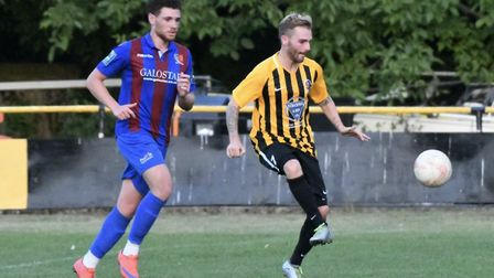 Scott Chaplin was on target for Stowmarket Towm in their win over Thetford. Picture: DAVID WALKER