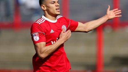 Kayden Jackson started for Accrington Stanley yesterday. Photo: PA