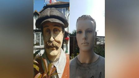 These full-size mannequins were stolen from a property in Clacton Picture: ESSEX POLICE