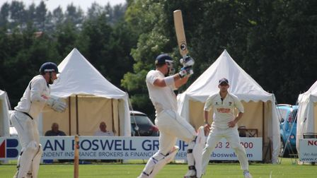 Frinton captain Kyran Young, who scored 99 not out in his side's win at Great Witchingham. Picture: